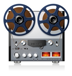 analog stereo reel to reel tape deck vector image