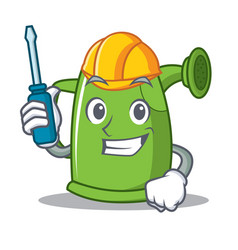 automotive watering can character cartoon vector image