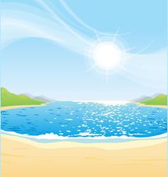 beautiful sunny day at beach bay vector image