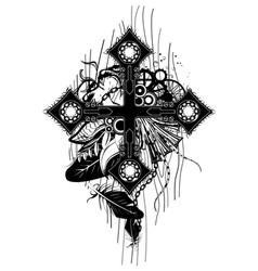 Black chain cross vector