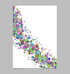 Blank curved abstract confetti circle poster vector