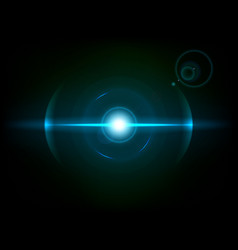 Blue space explosion cosmos burst vector