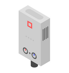 Boiler icon isometric style vector
