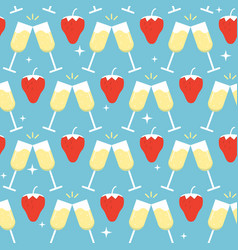 bright seamless pattern with strawberry vector image