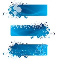 Christmas banners blue vector image