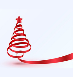 christmas tree tape design banner vector image