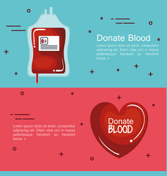 Donating blood design vector