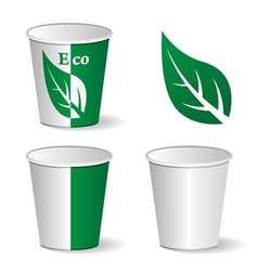 Eco paper cups vector