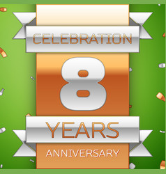 eight years anniversary celebration design vector image