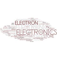 Electron word cloud concept vector