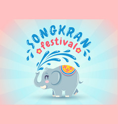 emblem for songkran water festival vector image