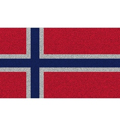 Flags Norway on denim texture vector image