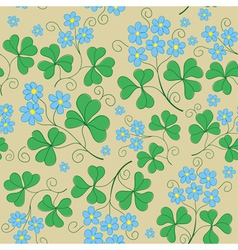 floral seamless texture with blue flowers vector image