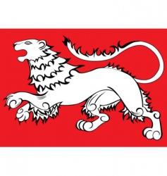 Heraldic sign lion vector