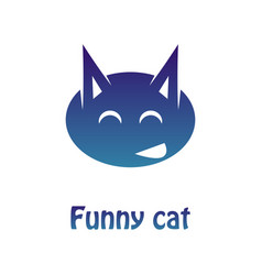 image of a multi-colored logotype of a merry cat vector image
