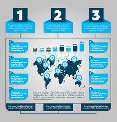 infographics steps vector image