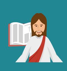 Jesuschrist character religious icon vector