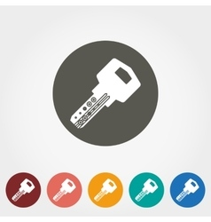 Key icon Flat vector image