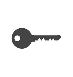 key icon in flat style isolated on white vector image
