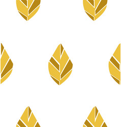leaf yellow seamless pattern vector image