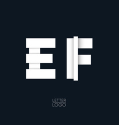 letter e and f template logo design vector image