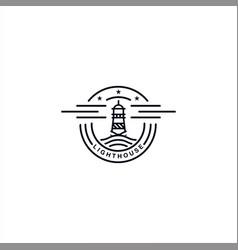 lighthouse logo design template inspiration vector image