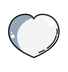 Line heart lover symbol design image vector