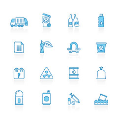 line with blue background garbage and rubbish vector image
