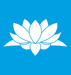 Lotus flower icon white vector