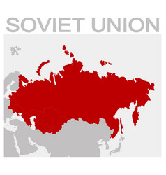Map of the soviet union vector