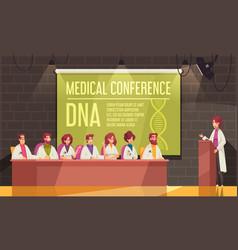 Medical conference banner vector