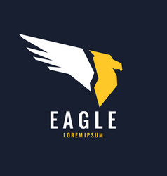 modern logo an eagle isolated in a flat style vector image