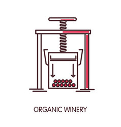 organic winery promotional poster with press vector image