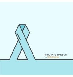 outline flat design prostate cancer vector image