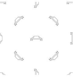 Pavilion tent pattern seamless vector