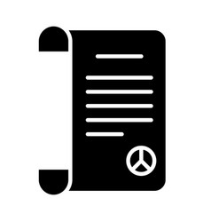 Peace treaty document icon silhouette style vector
