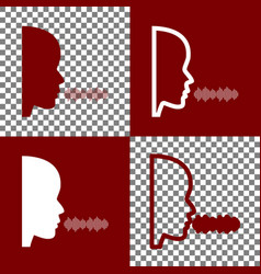 people speaking or singing sign bordo and vector image