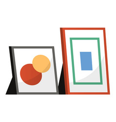 Photo frames isolated decorative edge for picture vector