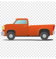 Pickup - cartoon car vector image