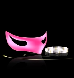 pink mask and jewel vector image
