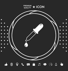 pipette icon with drop graphic elements for your vector image