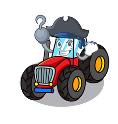 Pirate tractor character cartoon style vector