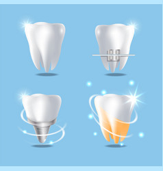 Professional dental services concept vector