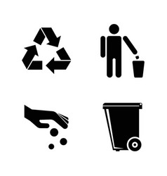 Purity simple related icons vector