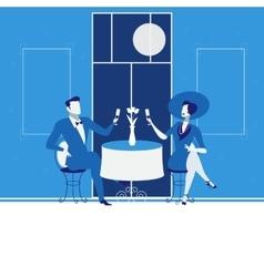 Romantic date concept in flat vector image