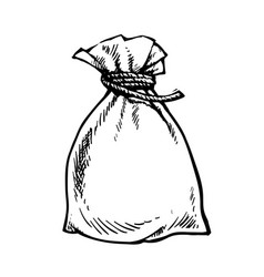 sack of money vector image
