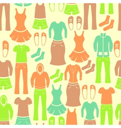 Seamless retro pattern with clothing vector image