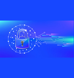 Security protect online vector
