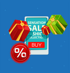 sensation sale fashion collections gift box vector image