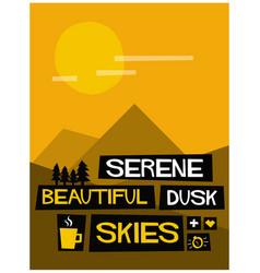 serene beautiful dusk skies vector image